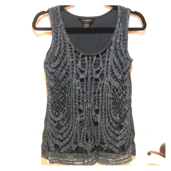 89th & Madison Tops - Sparkle Lace Tank